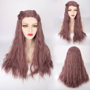 rosegal Long Fluffy Middle Part Slightly Curled Lolita Cosplay Synthetic Wig