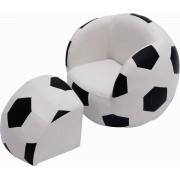 HOMCOM Zetel in vorm van een voetbal met poef