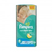 Scutece Pampers Active Baby Extra Large nr.6 56/set