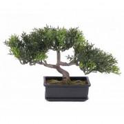 Bellatio flowers & plants Bonsai boom tealeaf 23 cm - Kunstplanten