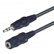 Audió kábel, 3,5 mm sztereó dugó-3,5 mm sztereó aljzat, 5 m