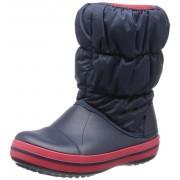 crocs - Cizme de zapada, Winter Puff Boot, Red/Navy