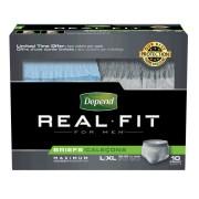 "Depend Real Fit Briefs for Men, Large/X-Large fits Waist 38-50"" Part No. 12779 Qty Per Case"