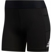 adidas Alphaskin Tight 3'' Women - Female - Zwart - Grootte: Extra Large