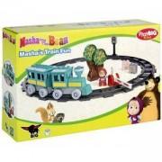 Конструктор Маша и Мечока - Сет влак с релси, Simba BIG, 044005