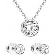 Evolution Group Set bijuterii cu cercei și colier Zircon 19007.1