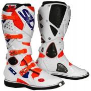 Sidi Crossfire 2 Motocross Stiefel Weiss Blau Orange 48