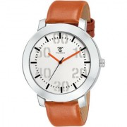 True Colors TC Brown Leather Men Analog Strap Quartz Watch For Men
