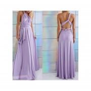 Vestido de Noche E-Thinker -Púrpura