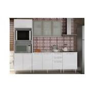 Cozinha Completa Art In Móveis Mia Coccina c 5 Peças CZ54 s Pia - Cor Branco c Fresno