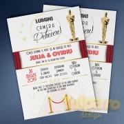 Invitaţie Oscar Party, pentru miri moderni (Model 2)