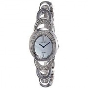 Seiko Solar Analog Mother Of Pearl Dial Womens Watch-Sup295P1
