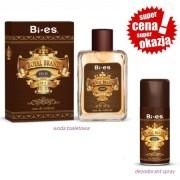 Bi-Es Royal Brand Old Gold - zestaw promocyjny, woda toaletowa, dezodorant