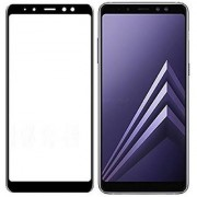 Samsung Galaxy A8 Plus 2018 (Black) Tempered Glass Full Glue 5D Quality 9h Hardness Full Screen Protector