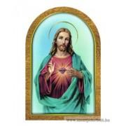 Aranyozott faplakett (Jézus szíve)
