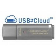 Memoria USB Kingston DataTraveler Locker+ G3, 64GB, USB 3.0, Plata