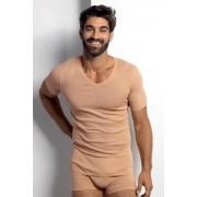Férfi testszínű póló, ing alá ajánlott viselet testszín L