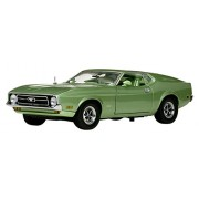 1971 Ford Mustang Sportsroof Medium Green 1/18 by Sunstar 3620