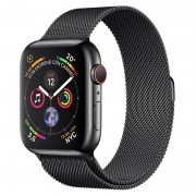 Apple Watch Series 4 GPS + Cellular 44mm Aço Inoxidável Preto Sideral com Bracelete Milanese Preta