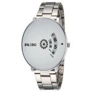 New Paidu White Best Designing Stylist Looking Professional Analog Watch For Men Boys