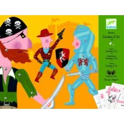 Djeco Cowboy & Co Puppet Paper Craft Kit