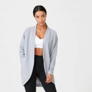 Myprotein Superlite Cardigan - XL - Grey Marl
