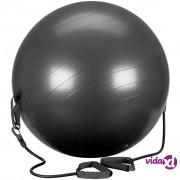 Avento lopta za vježbanje s trakama za otpor 65 cm crna 41TO-ZWG-65