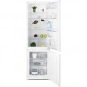 Combina frigorifica incorporabila Electrolux ENN2812AOW, 277 l, A++, Ventilator, Control electronic, H 177.2 cm, Alb