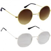 Derry Combo Of Bronze-Gold And Silver Mirror Sunglasses