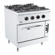 Combisteel Cuisinière à Gaz avec Fourneaux à Gaz Base 700 4x 6,5 kW 800x700x(H)900mm