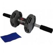 IBS Rolling Bodipro Total Power Body Strech Slider Roller Exercise Equipment Wheel Rolling Device Ab Exerciser (Black)