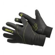 Craft Weather Bike Gloves Black/Green 1900709