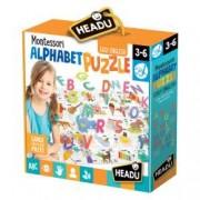 Puzzle Alfabet 3D dimensiune 70 x 50 cm format din 26 de piese si 26 de litere.
