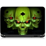 VI Collections Greenish Ghost Printed Vinyl Laptop Decal 15.5