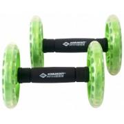 Schildkröt Fitness Dual Rollers set 2 stuks zwart/groen
