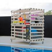 Armário aquático com rodas de duas portas em PVC: Resistente à humidade