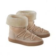 Inuikii slimline-boots met lamsvacht, 39 - lichtbeige