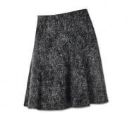 Michèle Wool-Jersey Skirt, 10 - Black/White