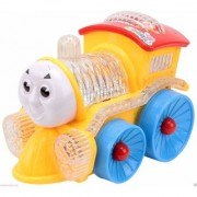 atorakushon engine Musical toy Train with 4D light sound Projector Birthday Gifts Multicolor Battery Operated