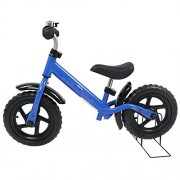 "Globe House Products GHP 12"" Wheel Diameter Blue No-Pedal Kids Balance Bike with EVA wheels & Bike Stand"