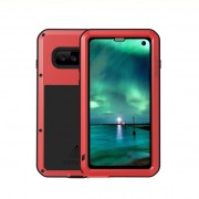 LOVE MEI Powerful Metal Defender Case for Samsung Galaxy S10 Dust-proof Shock-proof Splash-proof Cover - Red