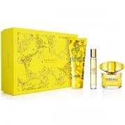 Versace Yellow Diamond Set ( Eau De Toilette 90ml+ Eau De Toilette Miniature 10ml+ Shower Gel 150ml) (8011003841899)