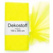 Geen Neon gele organza stoffen 150 x 300 cm
