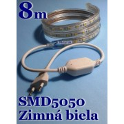 Ledstar kompletná sada 220V 8m SMD5050 60LEDm 14,8Wm Zimná biela IP67