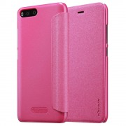 Nillkin Sparkle bőr borítású Flip Book tok telefon tok hátlap Xiaomi MI6 pink