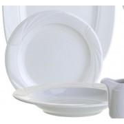 Plato postre Ondas de porcelana | Vajillas para restaurantes