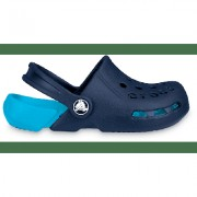 Crocs Navy / Electric Blue Kids' Electro Clog Shoes