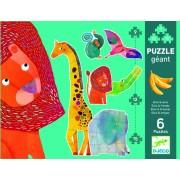 Puzzle gigant Djeco animale sălbatice
