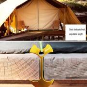Tablon Cubierta Camping Hueso De Pescado Clavo, Clavo De Aluminio Tenks Viento Cuerda Cadena De Ancla (Dorado)