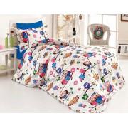 Lenjerie de pat copii Flowers Birds ( stoc limitat )